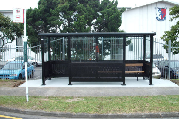4.8 Bus Shelter modular shelter, Kelston Boys