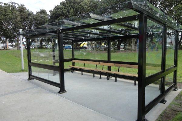 AUT South glass 6x3 bus shelter 2014