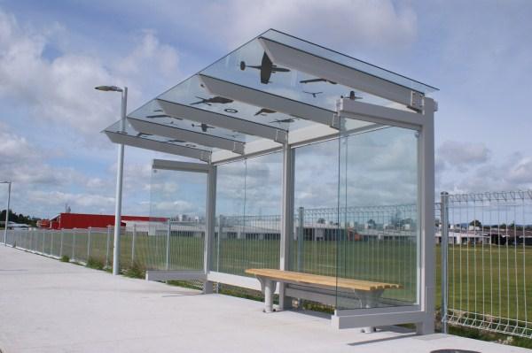 Bus Shelter Hobsonville 4.8m Glass Cantilever