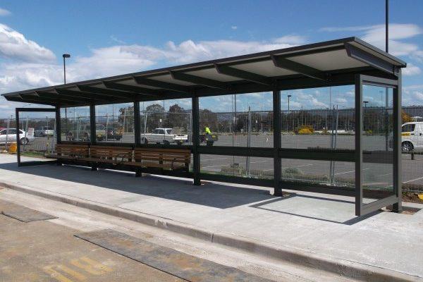 Canberra Bus Interchange Shelter Russell Street West 1