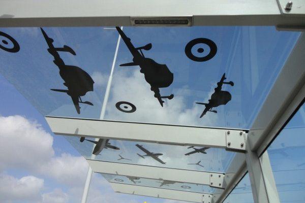 Hobsonville 4.8m Glass Cantilever Bus Shelter Roof