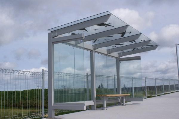 Hobsonville Bus Shelter Glass Cantilever
