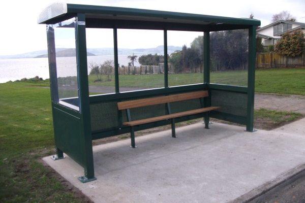 Rotorua Green Bus Shelter 2013 Lake