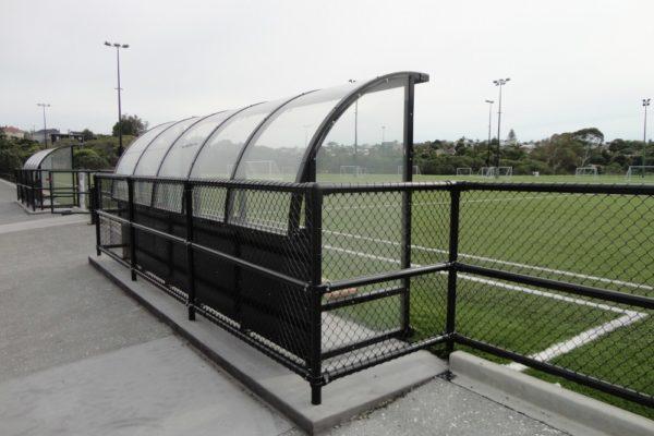 Soccer Dugout Seddon Fields back view