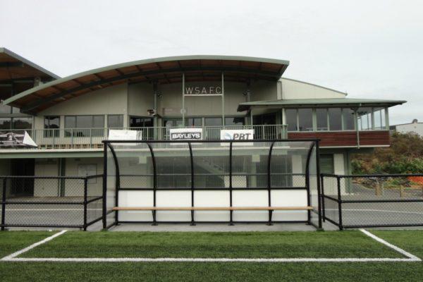 Soccer Dugout Seddon Fields front wide