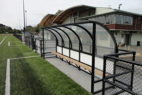 Soccer Dugout Seddon Fields side