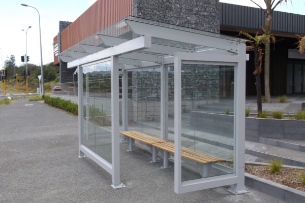Stonfields Market Bus Shelter - installed (2)