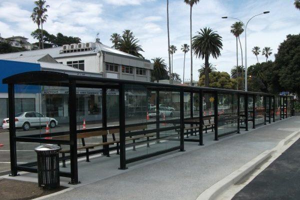 Napier Bus interchange 35m Shelter