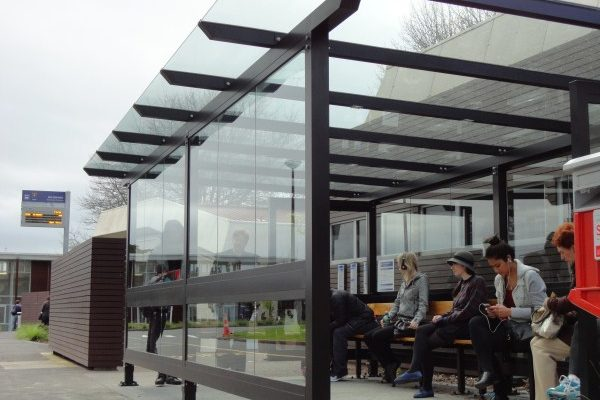 AUT Bus Shelter Large Custom Glass Roof
